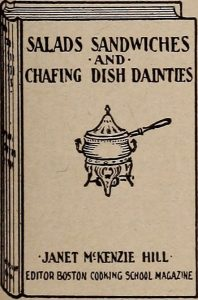 Chafing dish recipe book