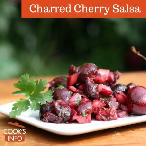 Charred cherry salsa