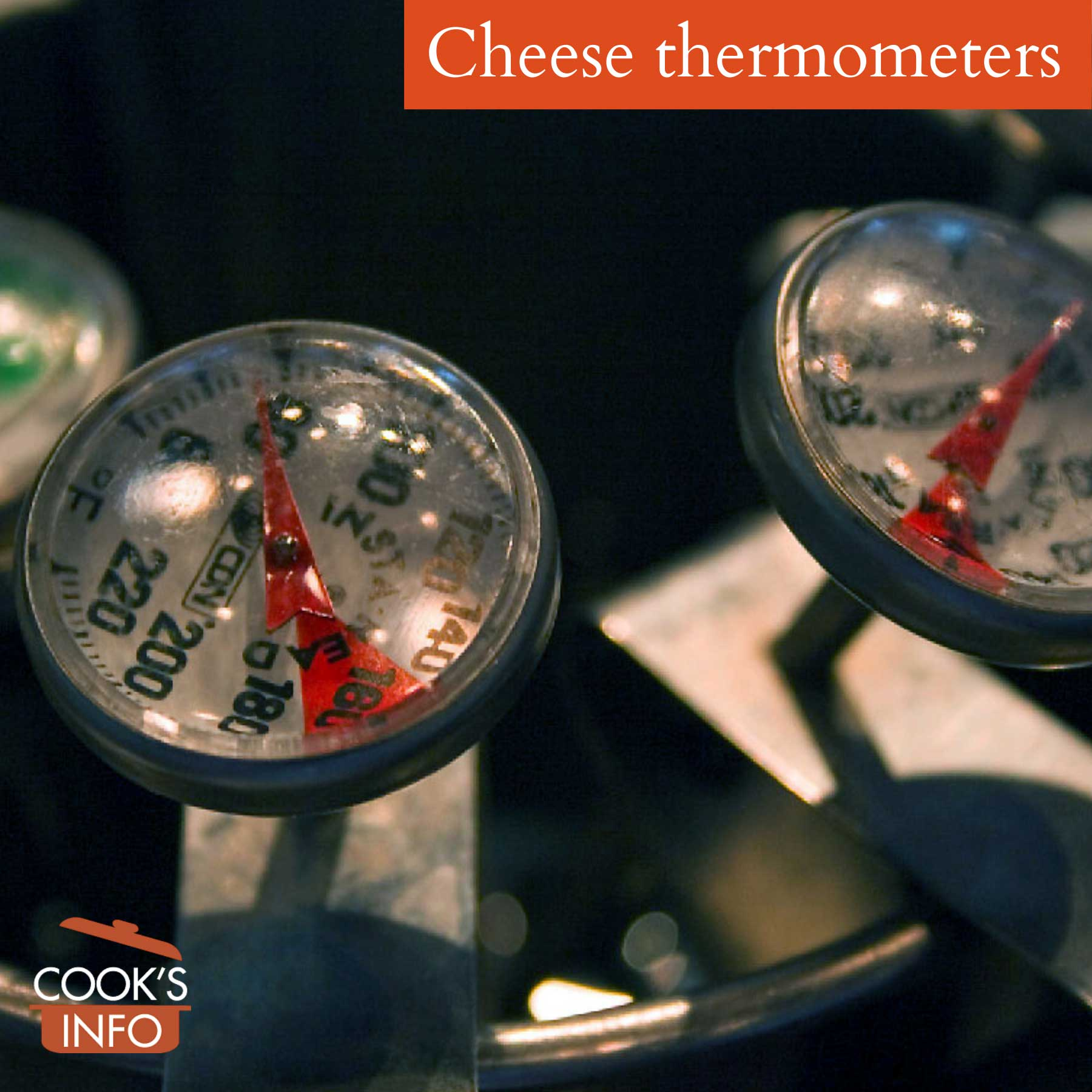 Cheese thermometers with clips