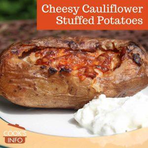 Cheesy Cauliflower Stuffed Potatoes