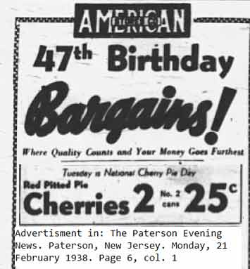 Cherry Pie Day 1938