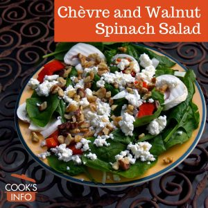 Chèvre and Walnut Spinach Salad