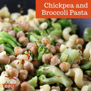 Chickpea and Broccoli Pasta