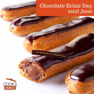 Chocolate eclairs with chocolate cream filling