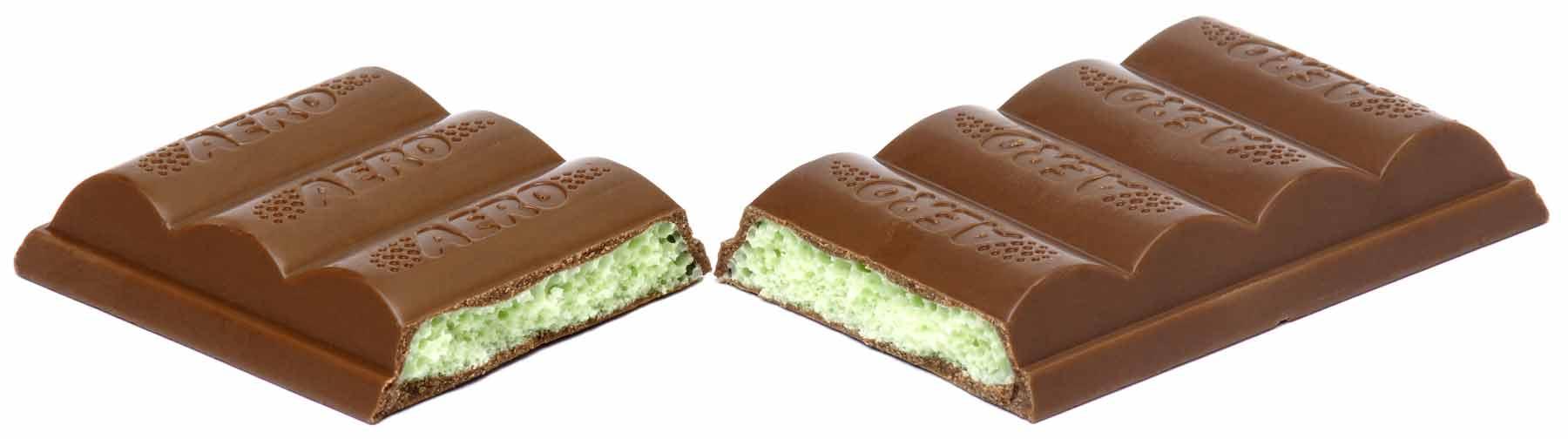 Chocolate mint Aero bar