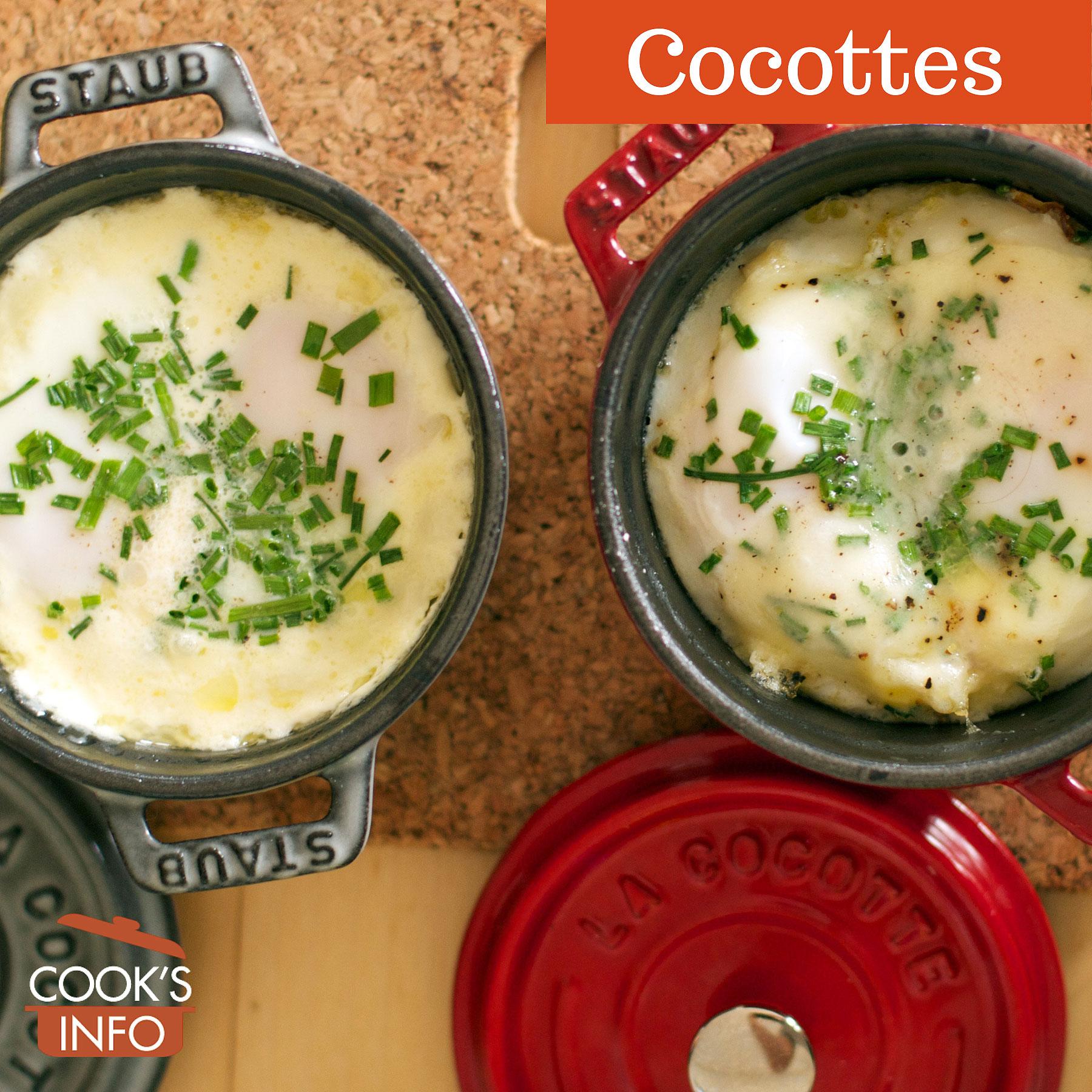 Eggs in Staub Mini Cocottes