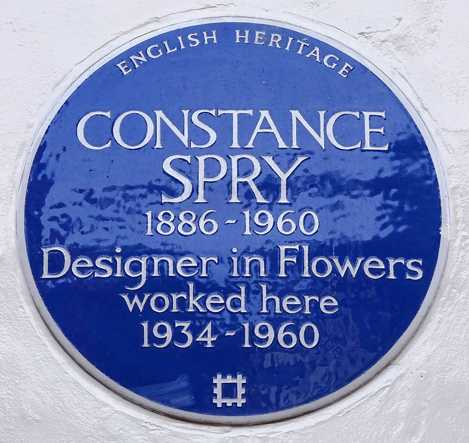Constance Spry Plaque