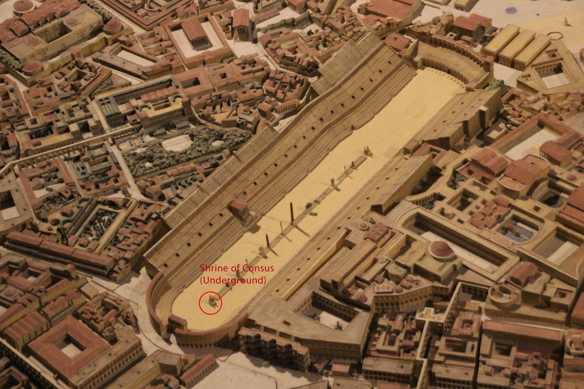 Location of Consus's shrine in Circus Maximu