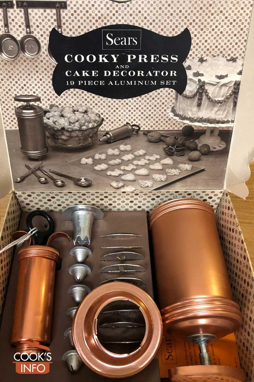 Vintage cookie press kit.