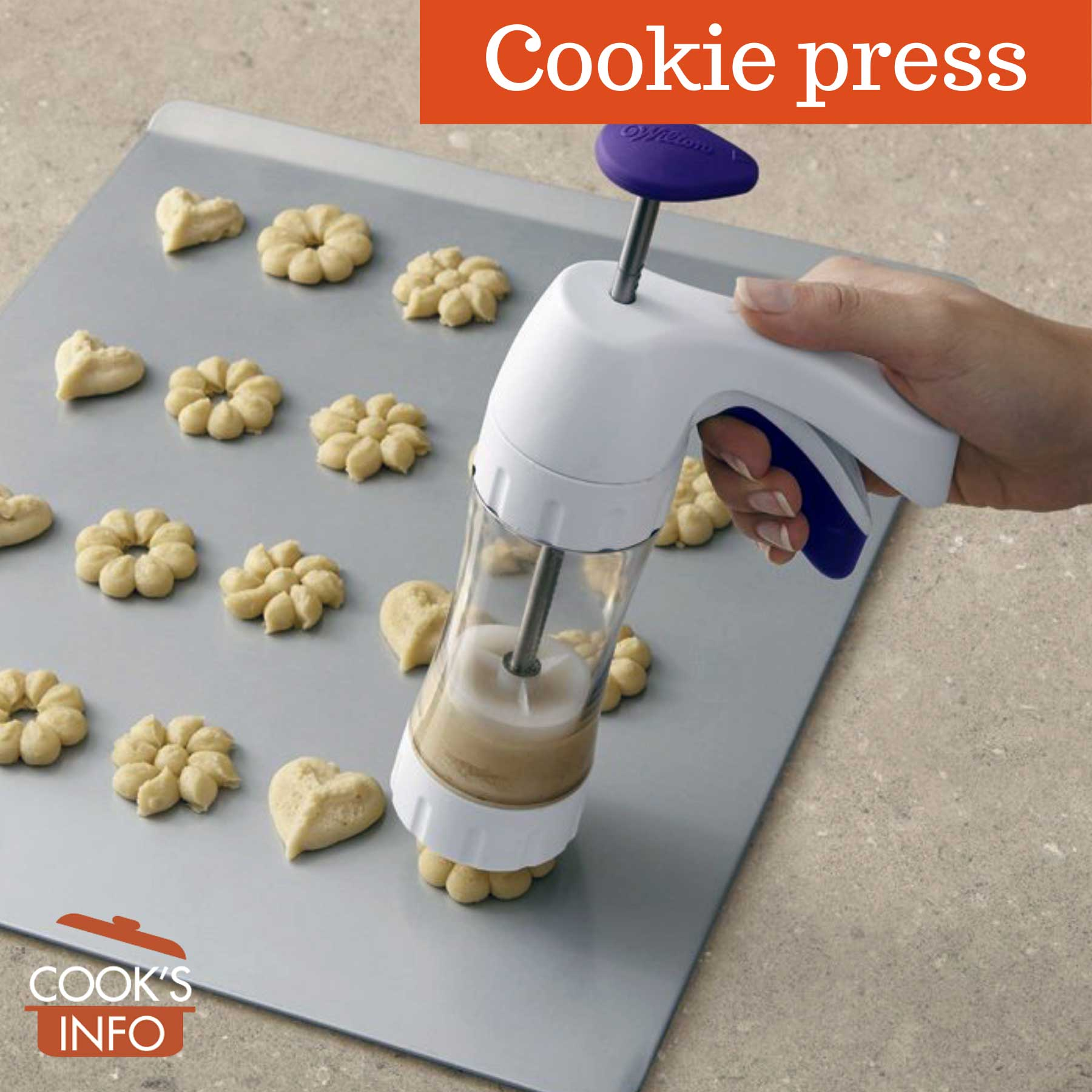 Pistol-style cookie press