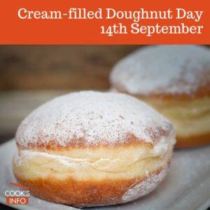 Cream-filled doughnuts
