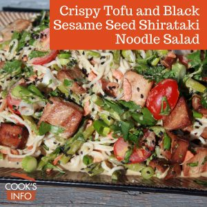 Crispy Tofu and Black Sesame Seed Shirataki Noodle Salad
