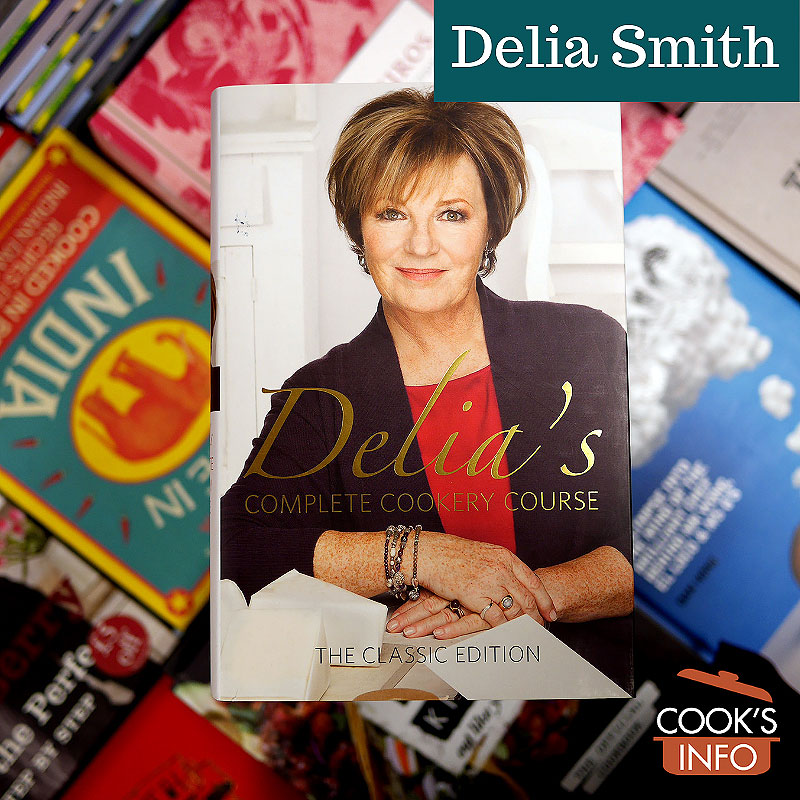 Various books including one by Delia Smith