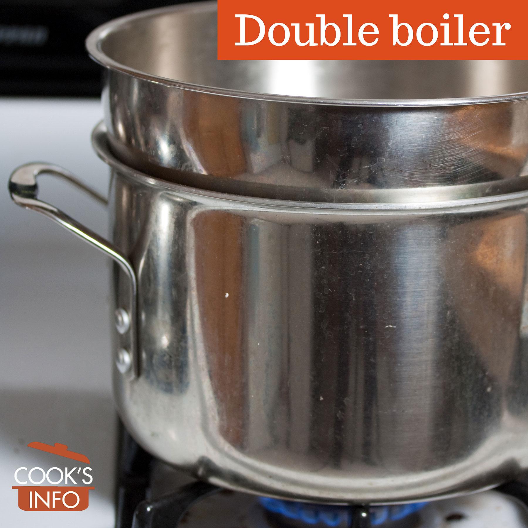 Improvised double boiler