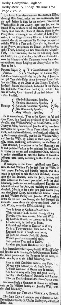 Derby Mercury 1751 Flitch Trials