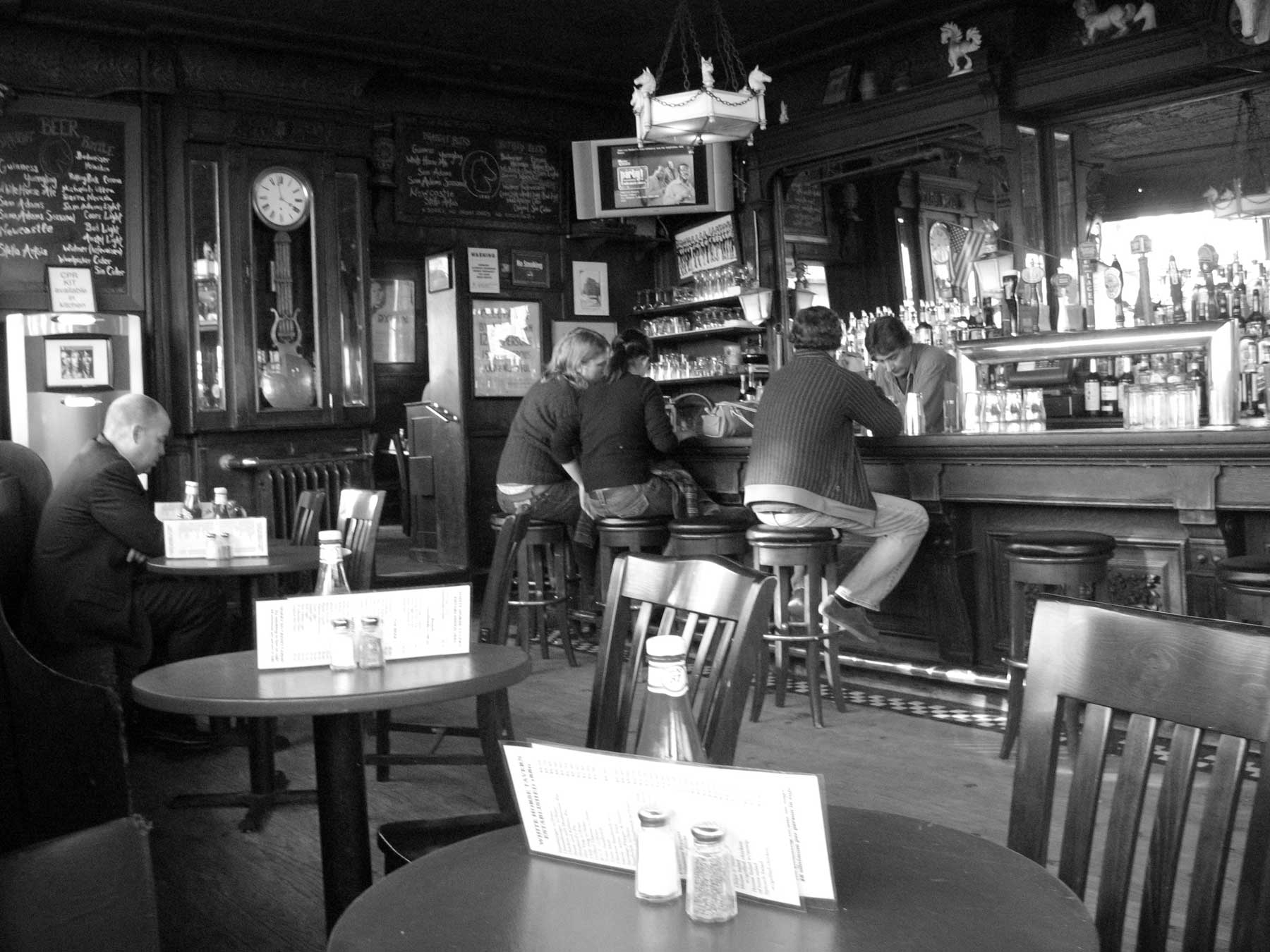 Interior of the famed White Horse Tavern in January 2007