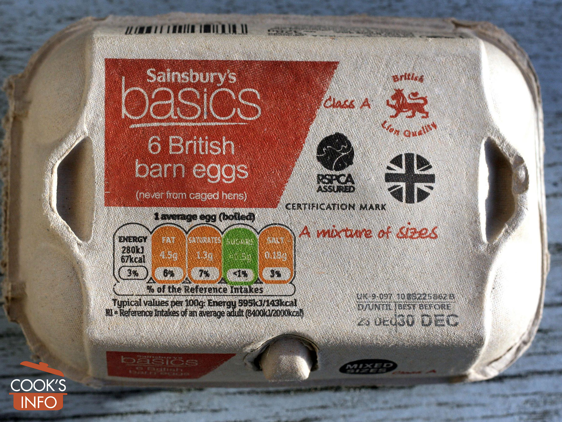 English egg carton with Red Lion stamp on it