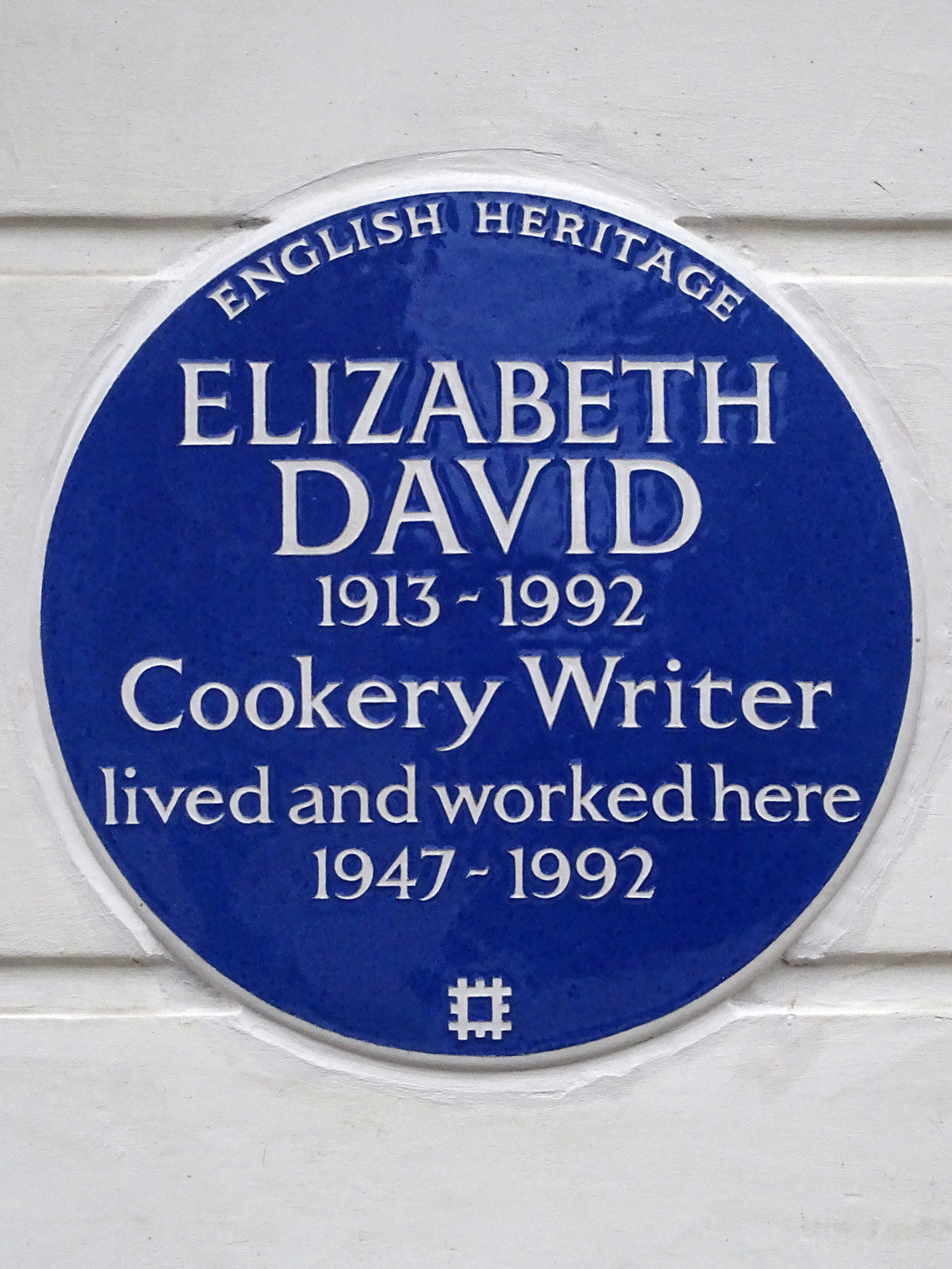 Blue plaque erected at Elizabeth David's former residence