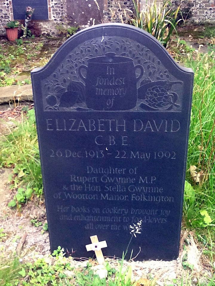 Elizabeth David gravestone