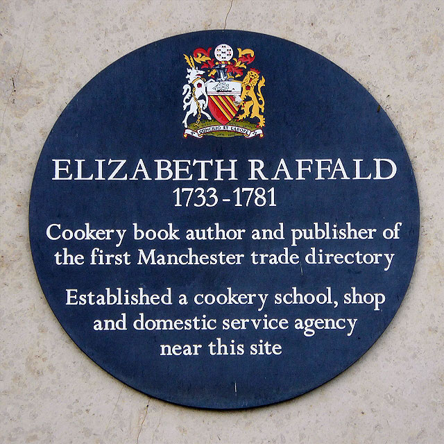 Elizabeth Raffald Commemorative Plaque