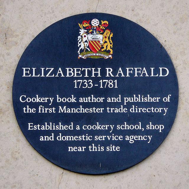 Elizabeth Raffald Commemorative Plaque
