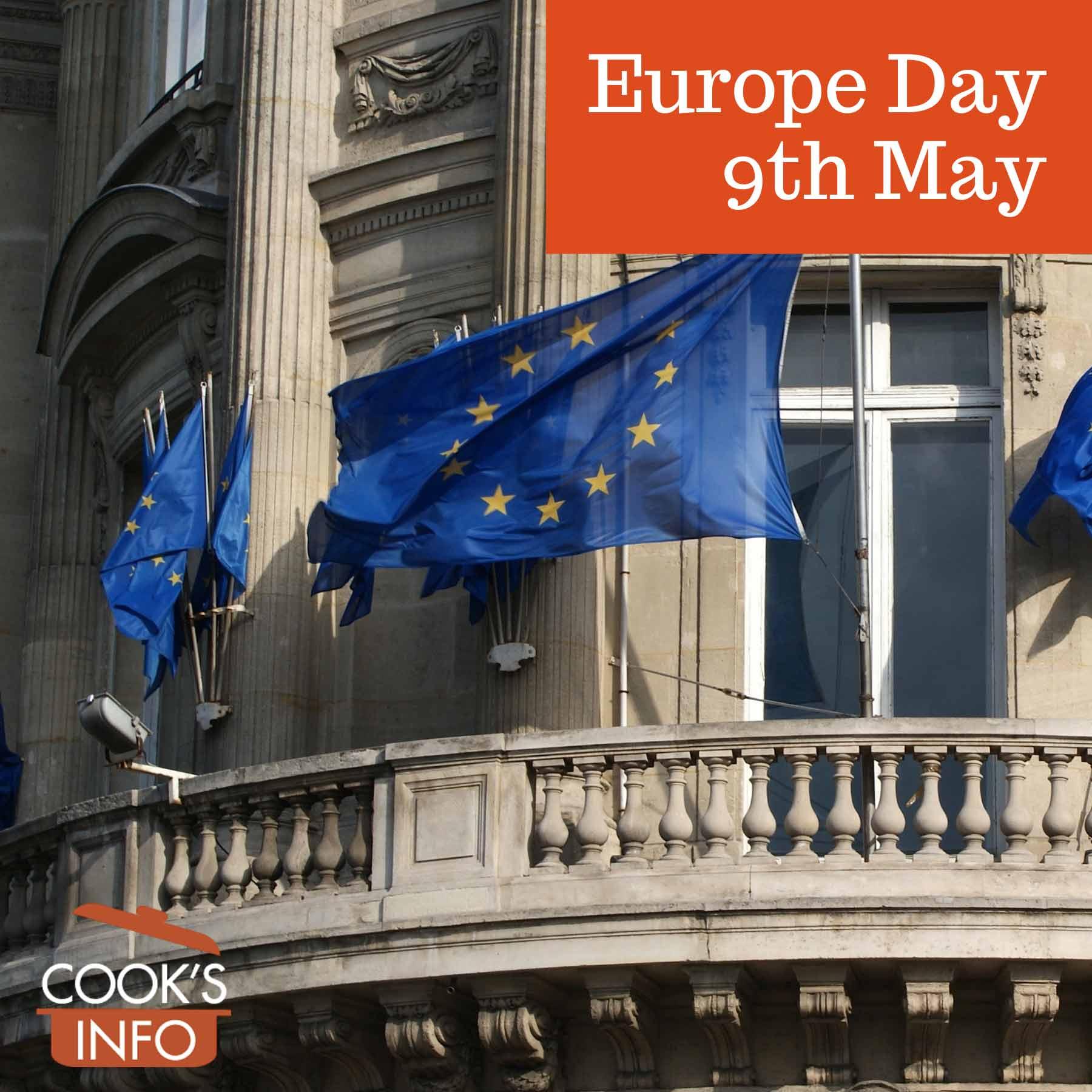 Building with EU flags