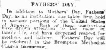 Father's Day 1922 Australia