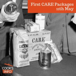 CARE package being shown to officials in Paris