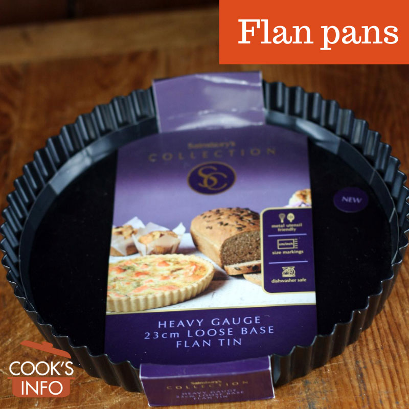 Flan pan with packaging