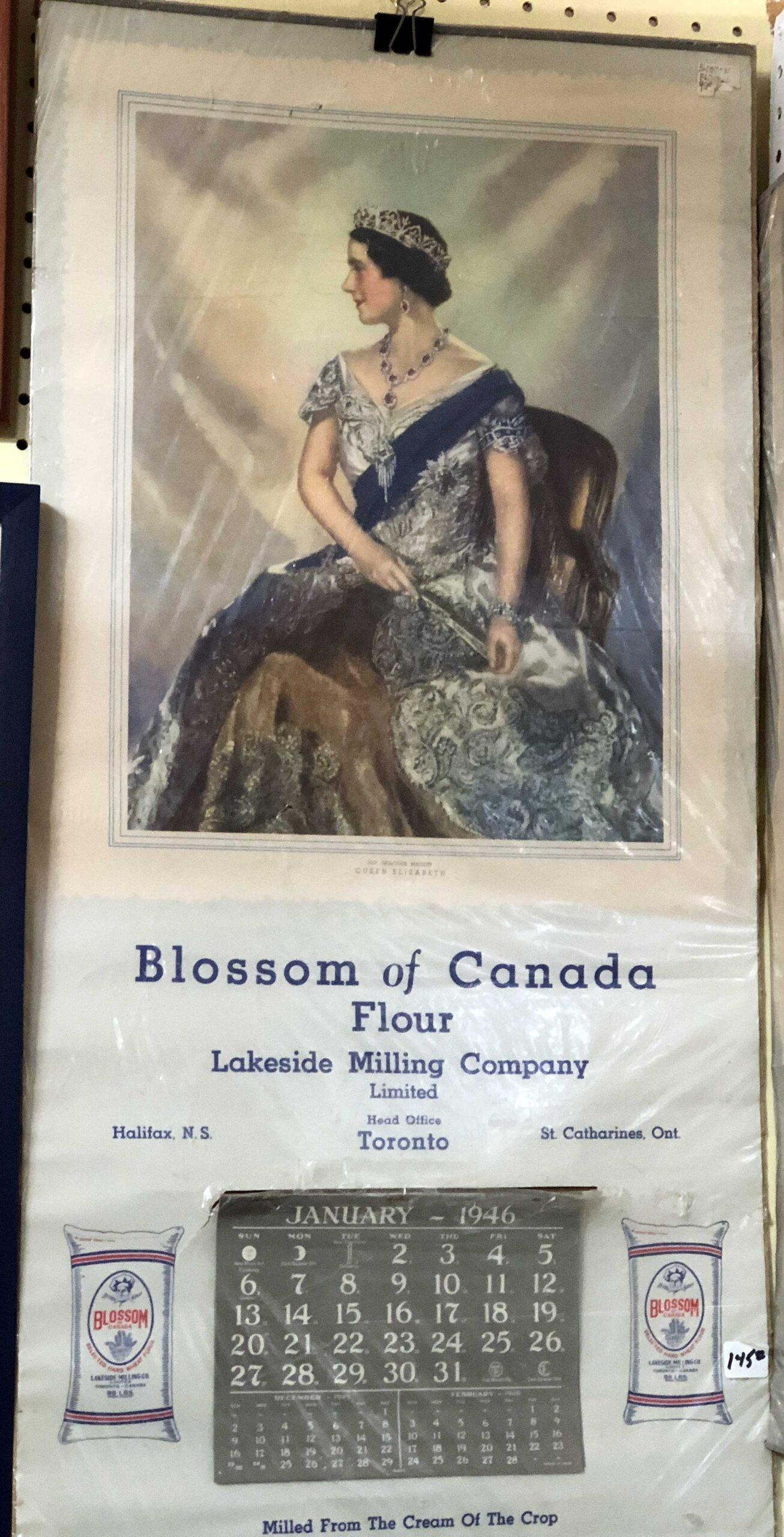 Canadian flour calendar 1946
