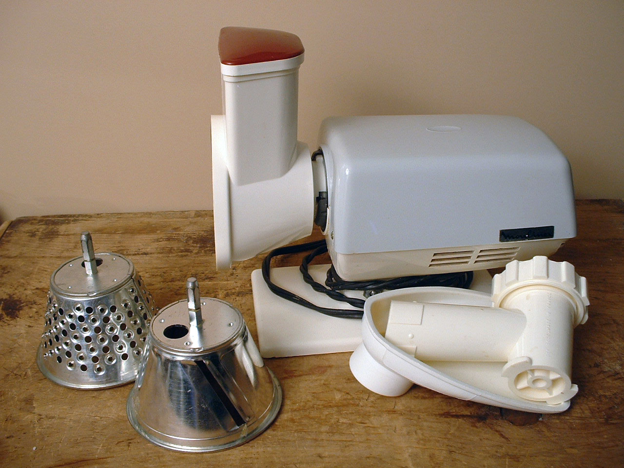 Electric food mill by Moulinex, France. 1970s