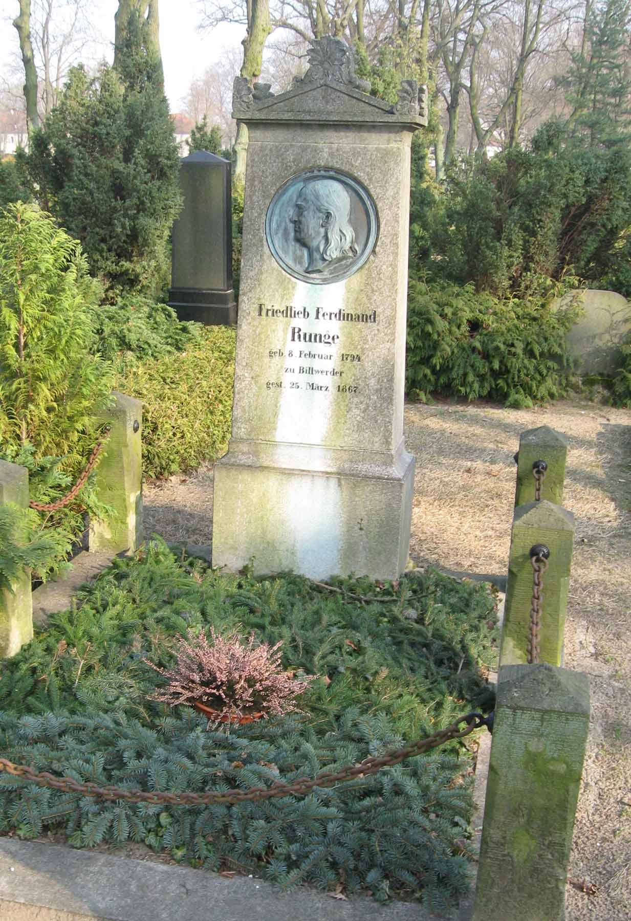 Grave of Friedlieb Ferdinand Runge in Oranienburg.