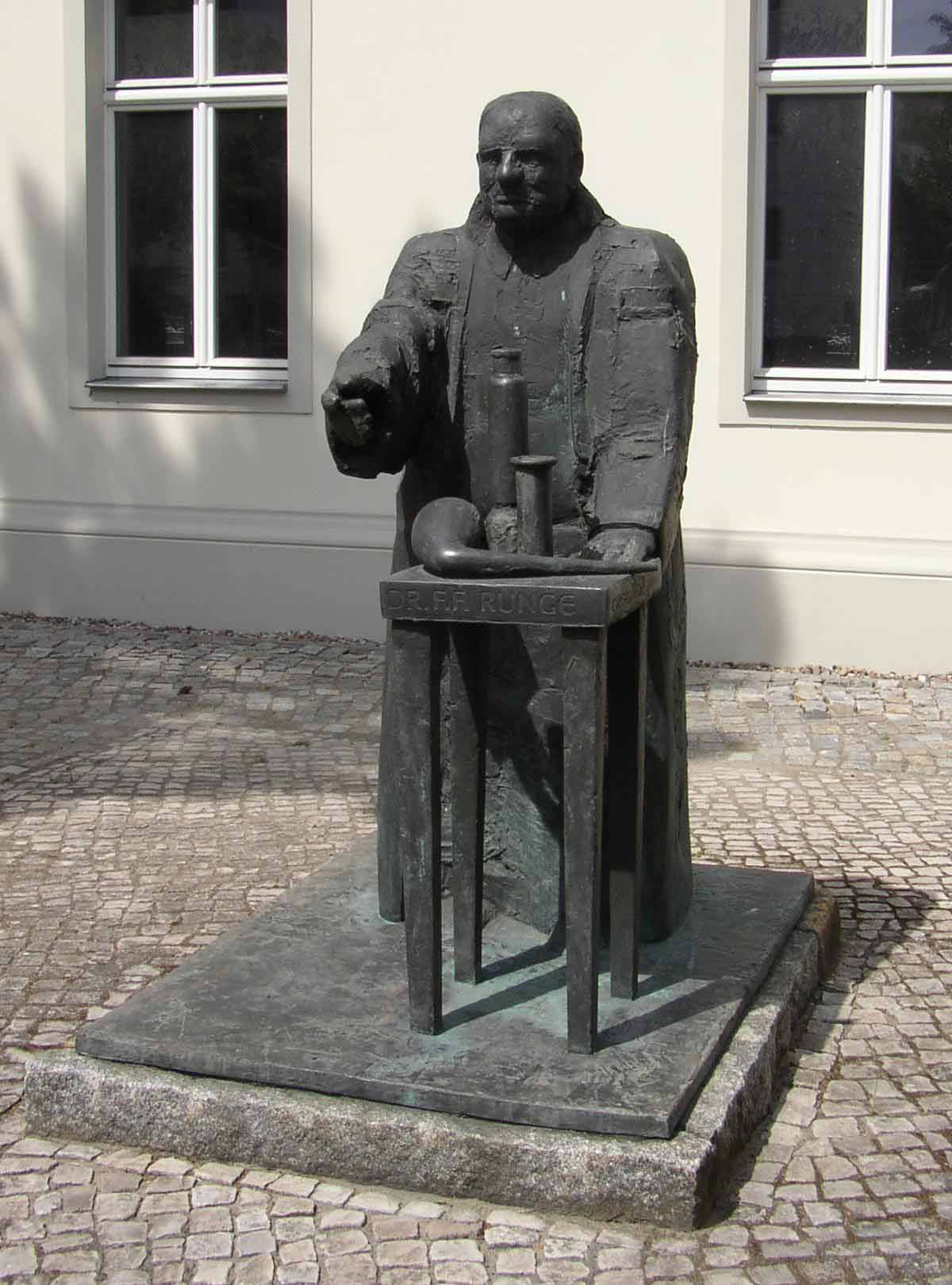 Statue of Friedlieb Ferdinand Runge in Oranienburg