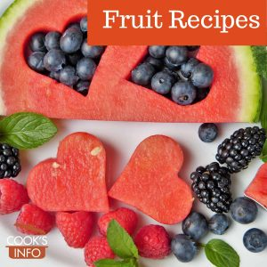 Decoratively cut fruits