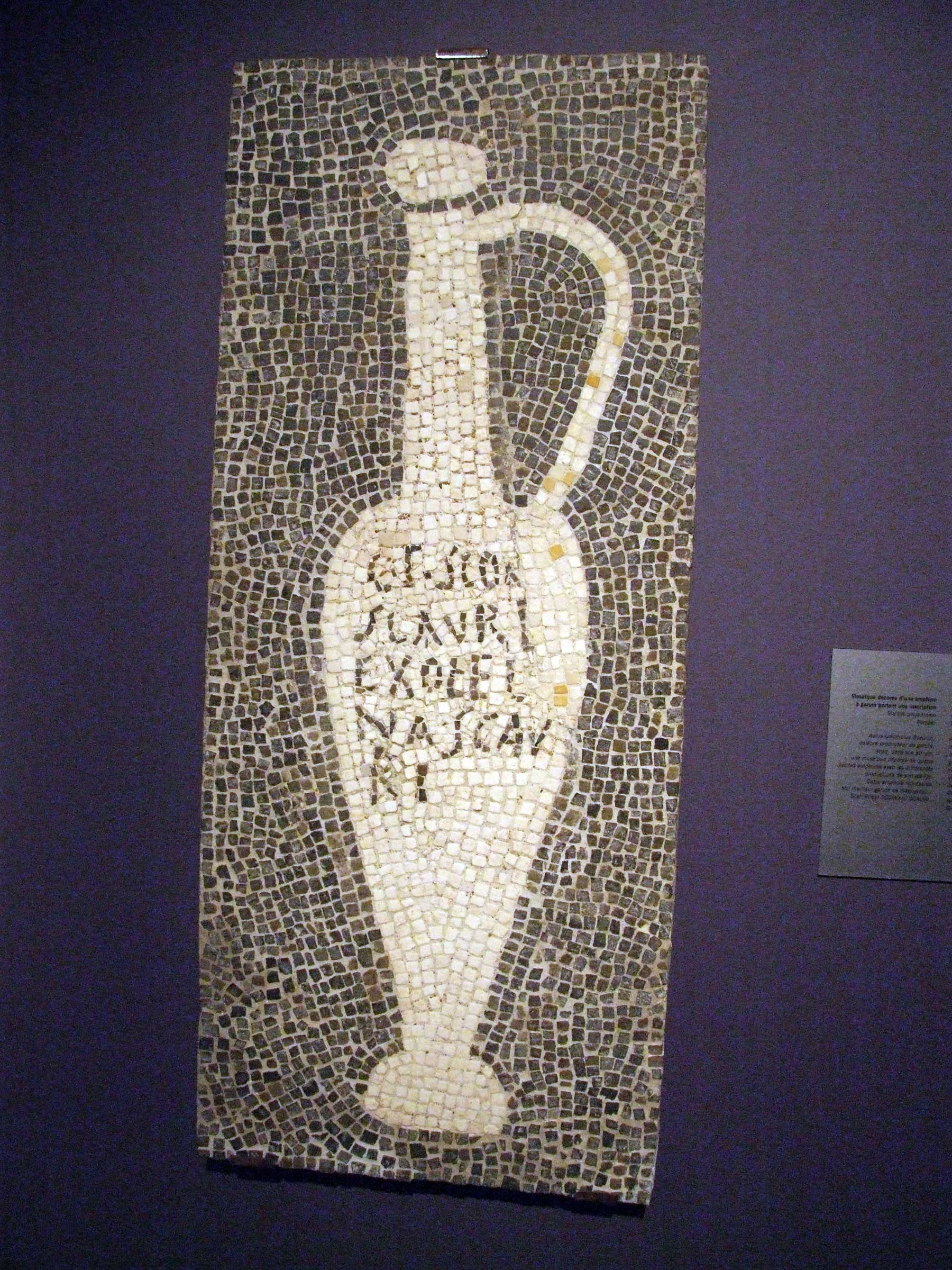 Garum jug mosaic found at Pompeii