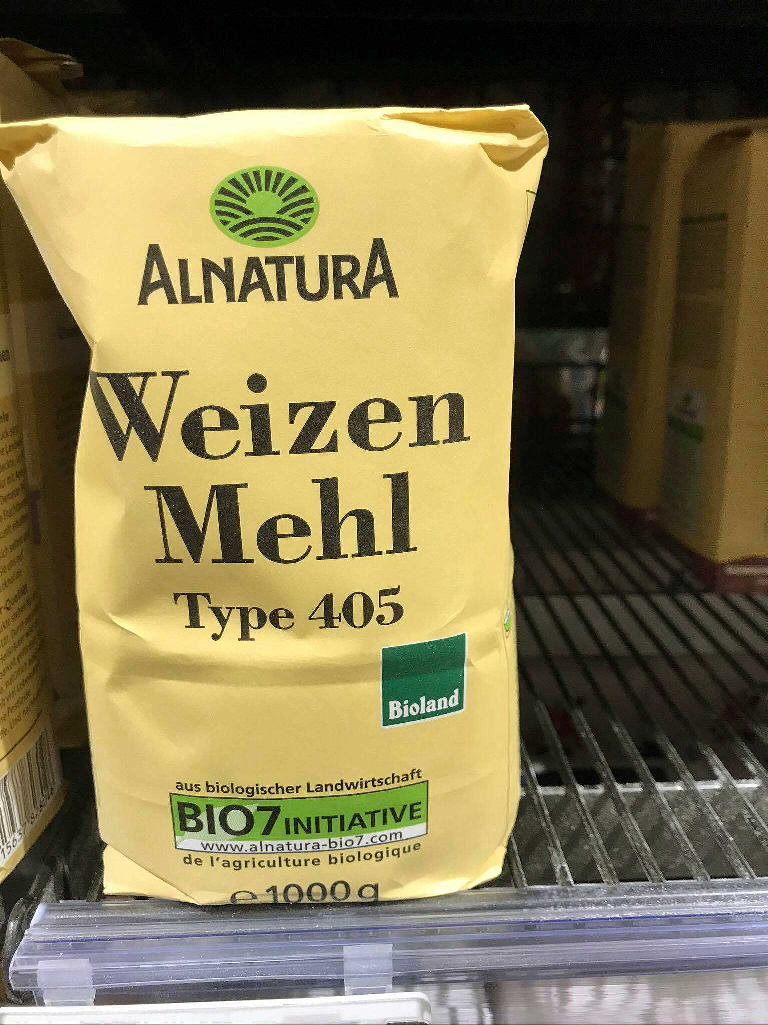German wheat flour / Weizenmehl type 405