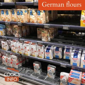 German flours at supermarket in Hamburg