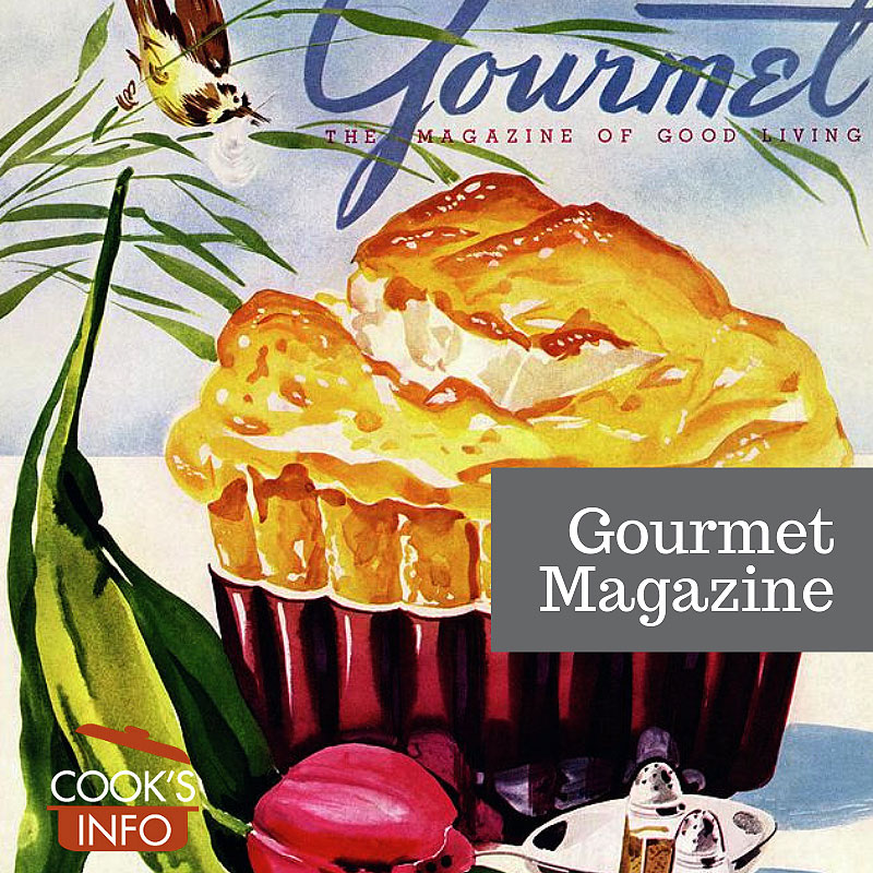 Gourmet Magazine April 1945