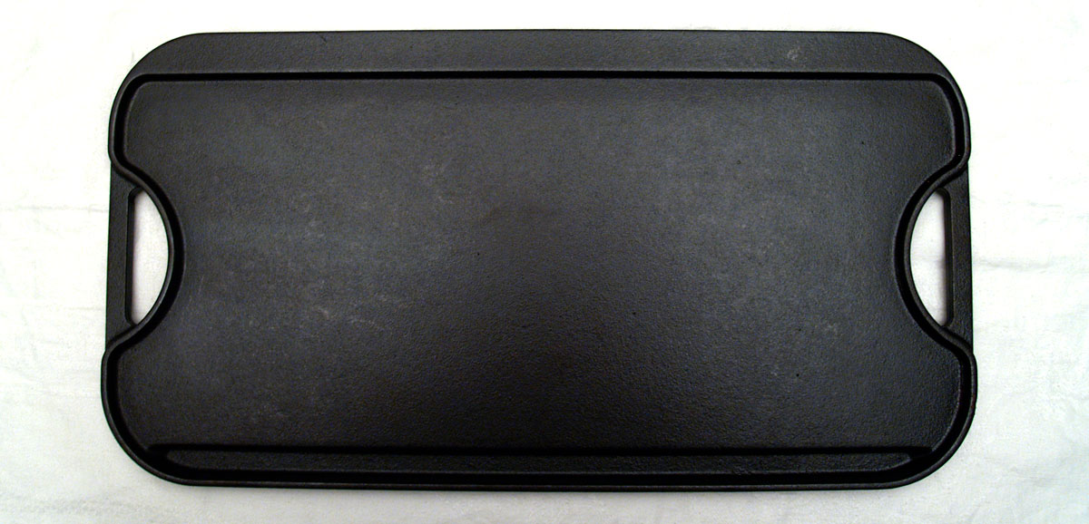 Home-use cast iron griddle, flat side.
