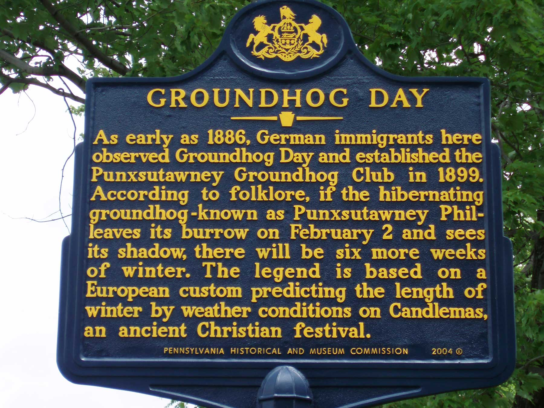 Groundhog day sign
