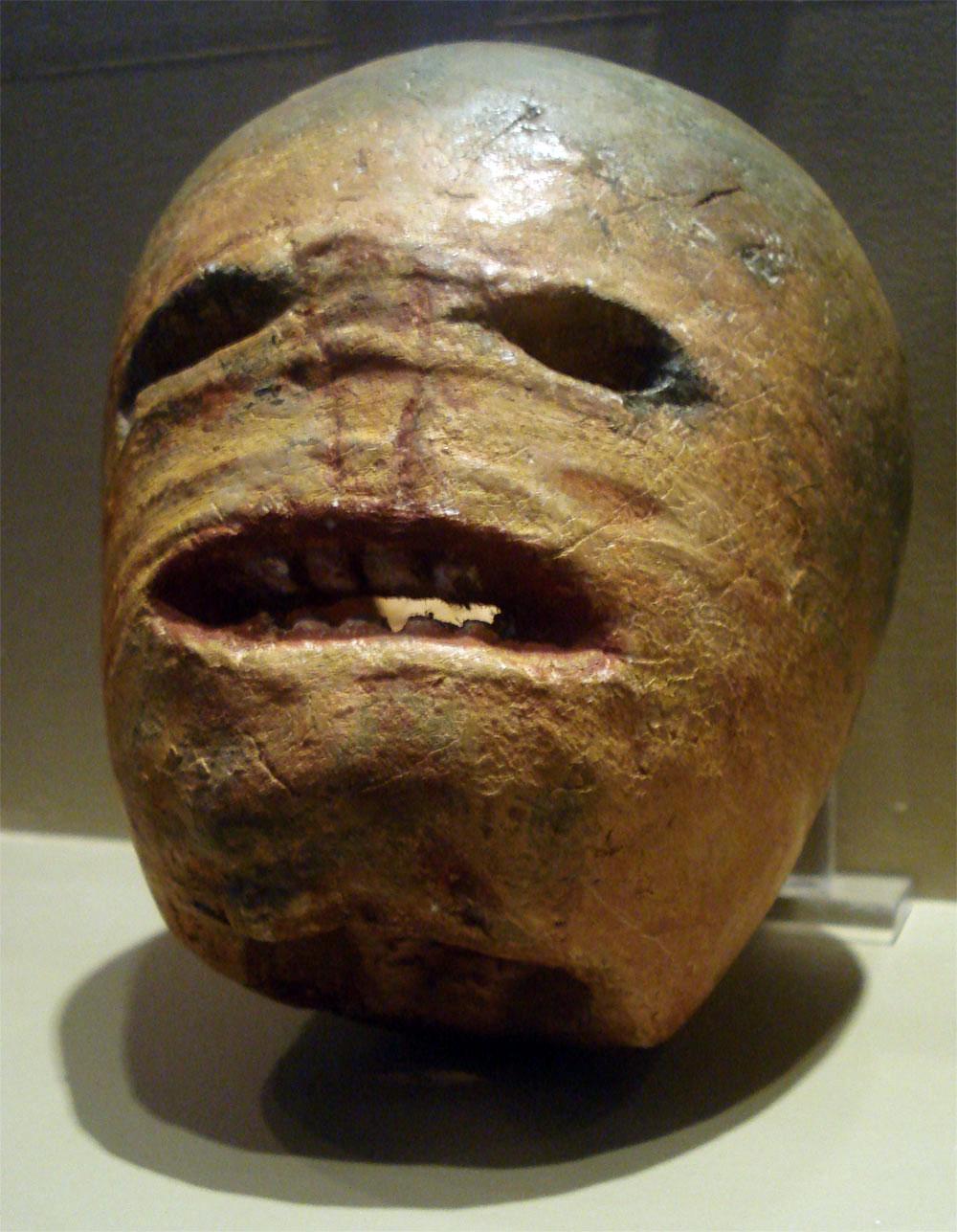 Irish turnip jack-o-lantern
