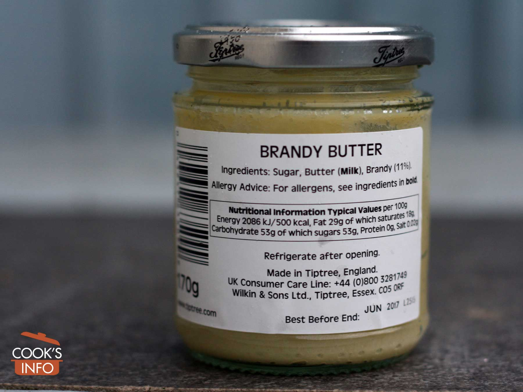 Hard sauce brandy butter nutrition