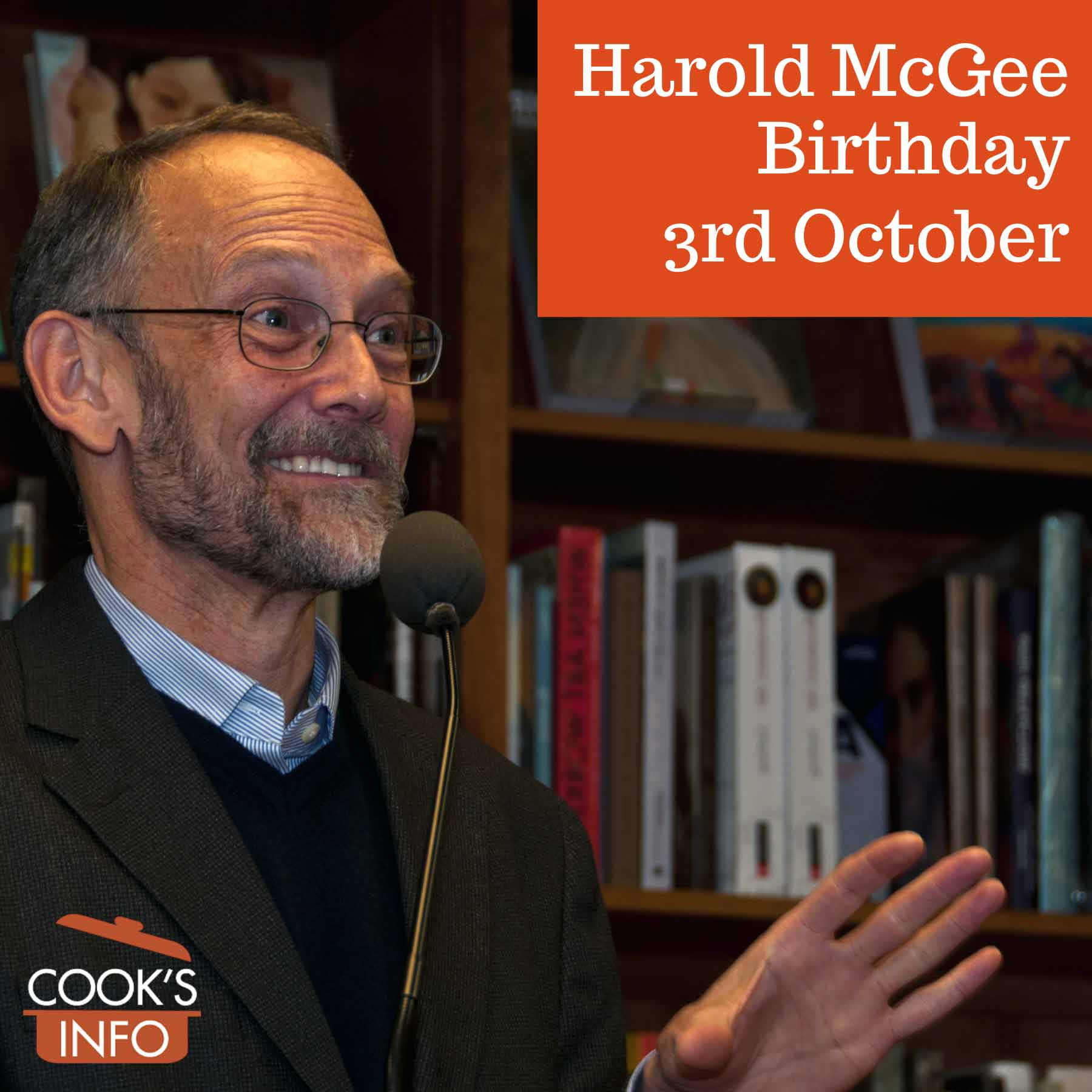 """Harold McGee at book signing for """"Keys to Good Cooking"""" in Washington, DC, 2010."""