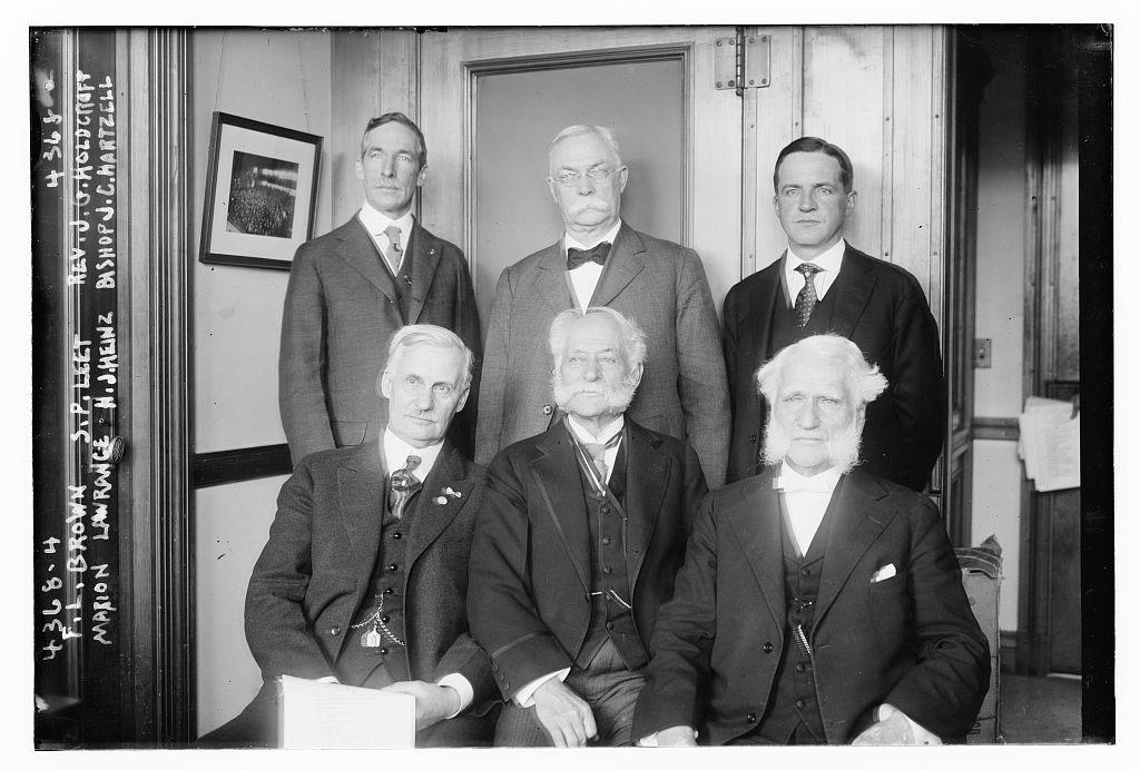 Henry John Heinz front row, centre. 1917