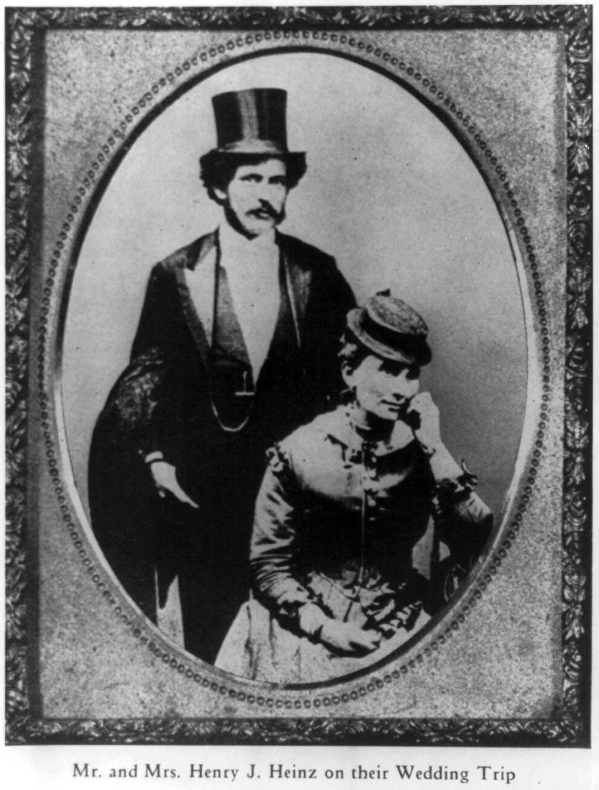 Henry J. and Sarah Heinz on their wedding trip. 1869