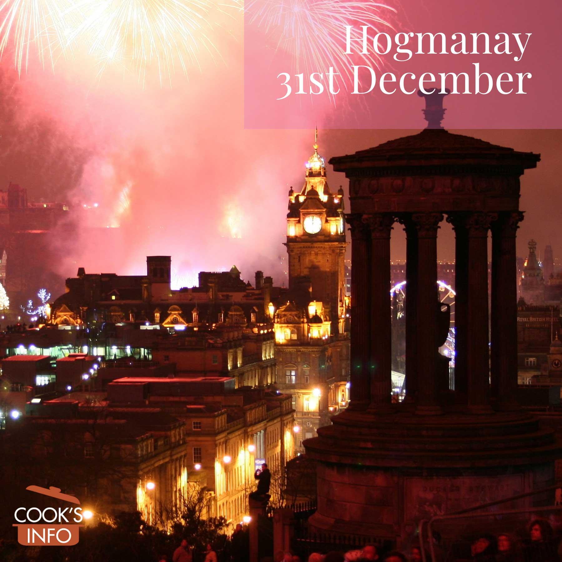 Fireworks over Edinburgh at Hogmanay
