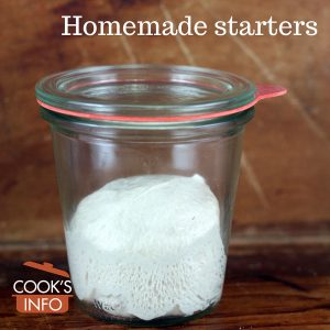 Homemade bread starter