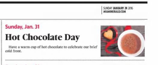 Hot chocolate day 2016
