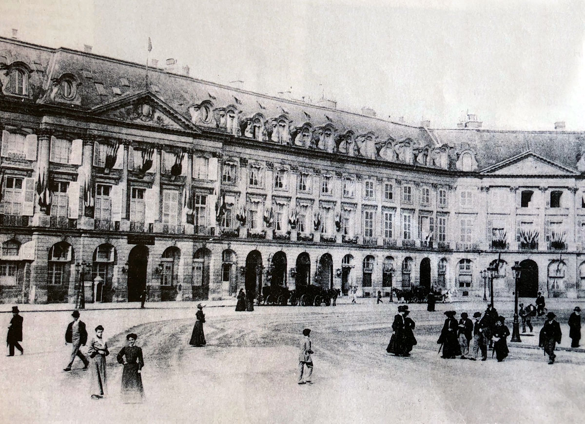 Hôtel Ritz Paris. 1900.