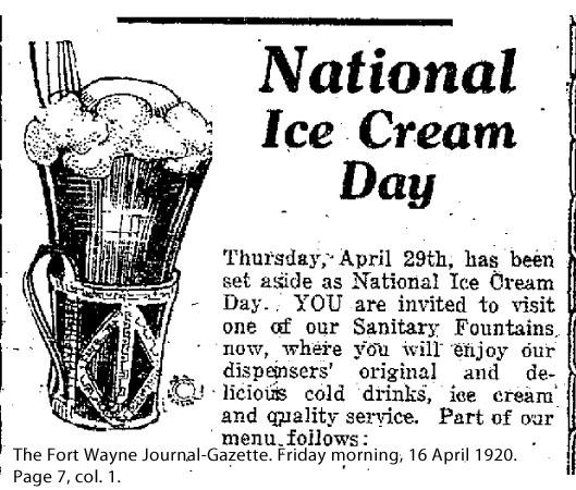 Ice Cream Day 1920